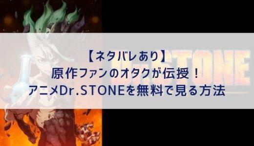 【1話から全話ネタバレ】原作ファンのオタクが伝授!Dr.STONEのアニメを無料で見る方法